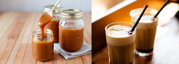 Šalta karamelinė kava. Kavos Draugas