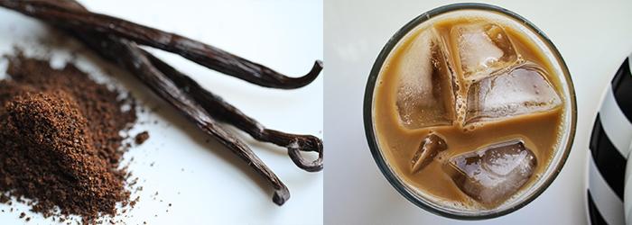 Šalta vanilinė Latte. Kavos Draugas