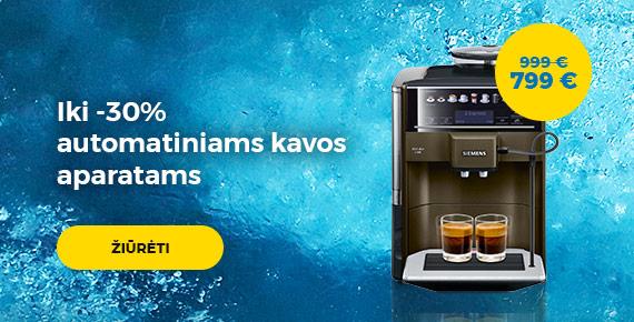 iki -30% automatiniams kavos aparatams