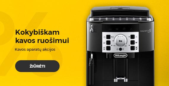 Kavos aparatų akcija