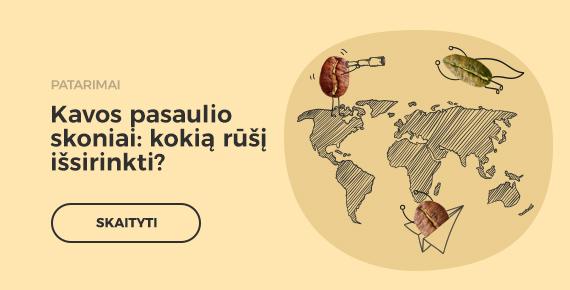 Kavos pasaulio skoniai