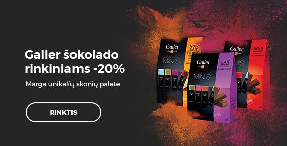 Galler šokolado rinkiniams -20%