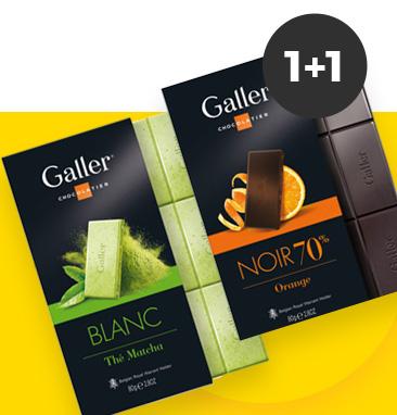 Gauk 2 Galler šokolado plyteles – mokėk už vieną
