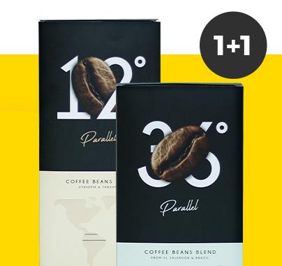 2 kg Parallel kavos pupelių už vieno kainą