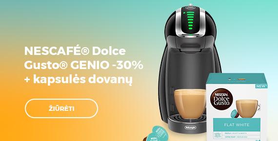 NESCAFÉ® Dolce Gusto® GENIO -30% + kapsulės dovanų