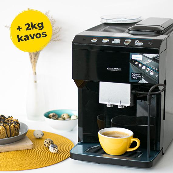 SIEMENS kavos aparatas + 2 kg Caprissimo kavos