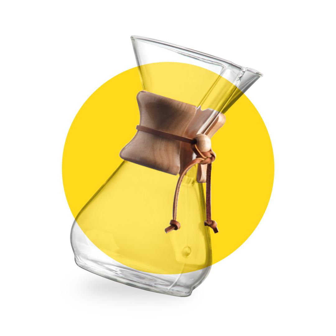 Chemex kavos ruošimo indas
