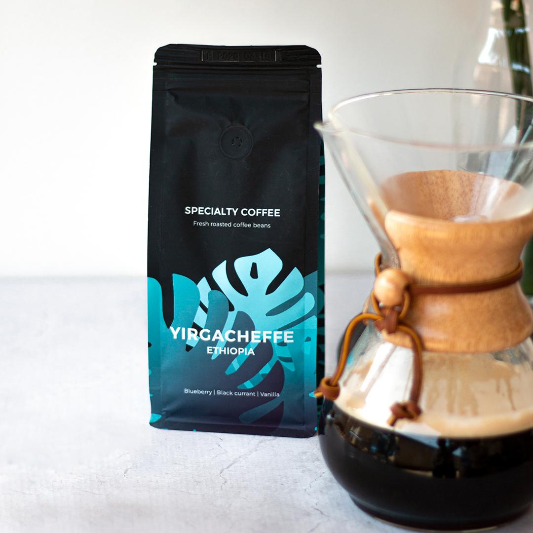 Rūšinės kavos pupelės Ethiopia Yirgacheffe