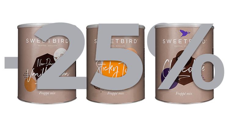 Sweetbird frappe mišiniams -25%
