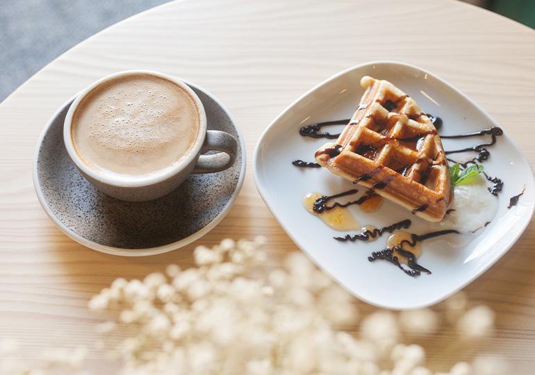 Vafliai ir kava