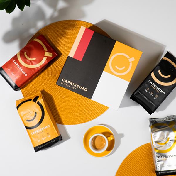 """Kavos pupelių rinkinys """"Caprissimo Box"""""""