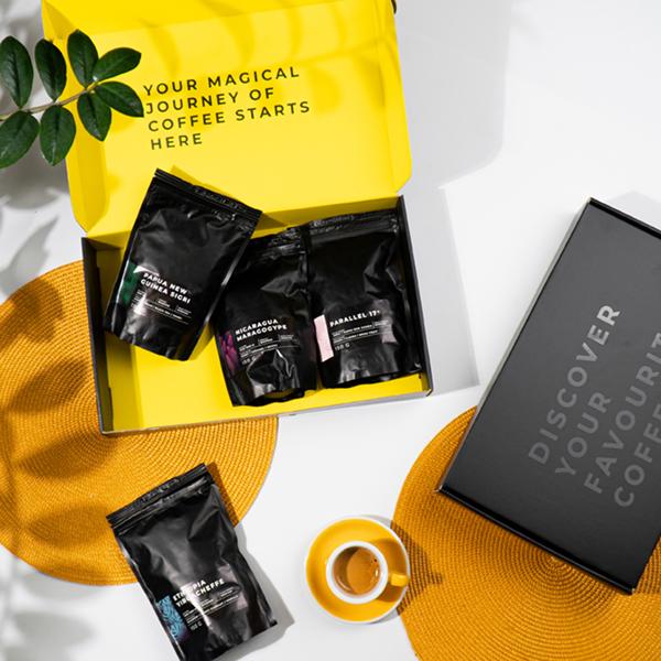 """Kavos ragavimo dėžutė """"Tasting box Nr. 3"""