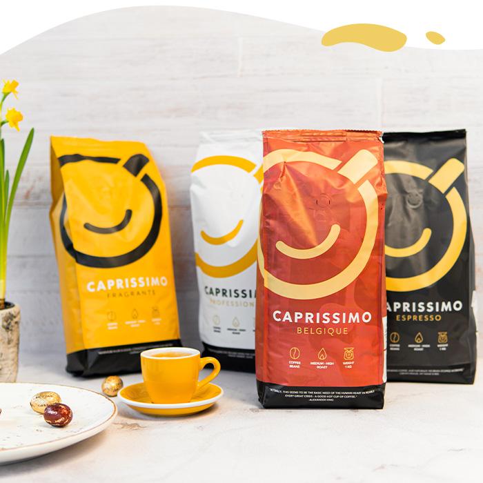 Caprissimo 1 kg kavos pupelės tik 9,99 €