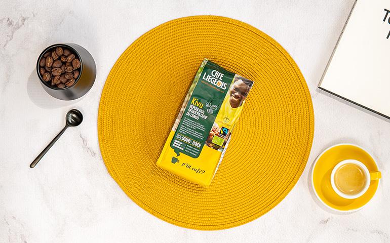 "Ekologiškos kavos pupelės Café Liégeois ""Kivu"""