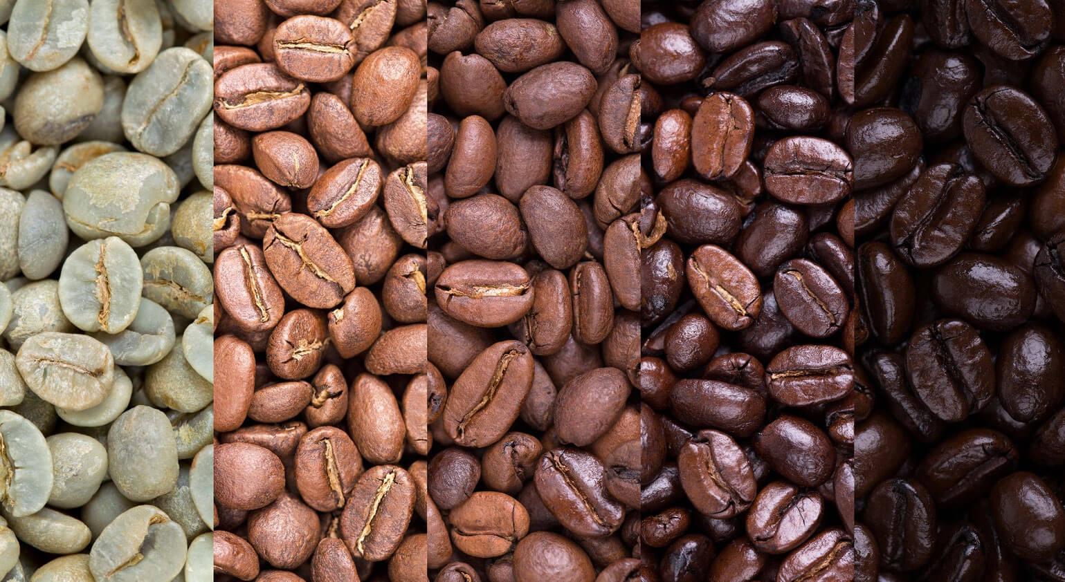 Kavos skrudinimo lygiai
