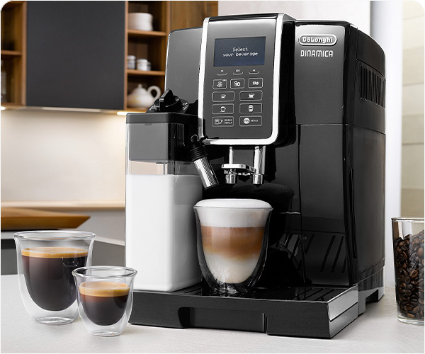 10 kavos gėrimų vienu mygtuko palietimu