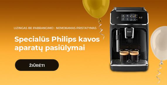 Specialūs Philips kavos aparatų pasiūlymai