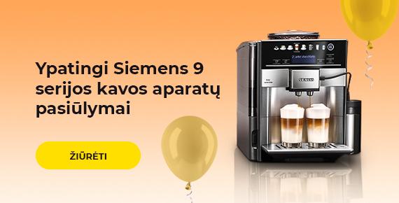 Ypatingi Siemens 9 serijos kavos aparatų pasiūlymai