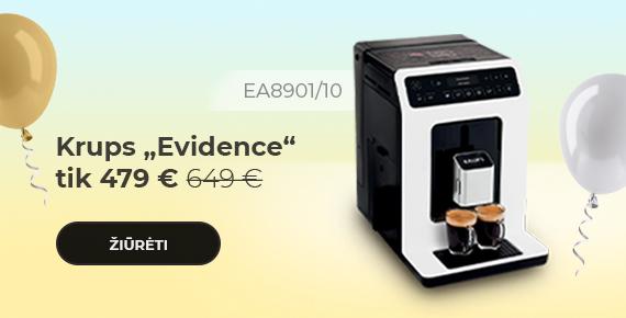 "Krups ""Evidence EA8901/10"" kavos aparatas tik 479 €"
