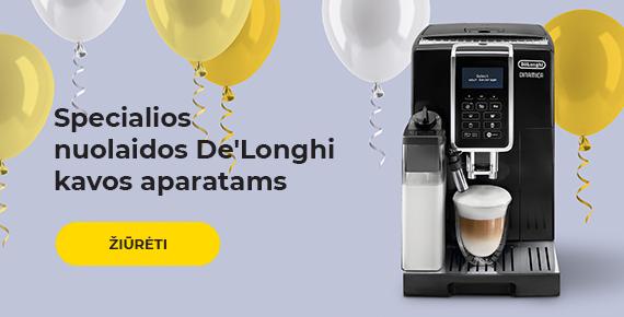 Specialios nuolaidos De'Longhi kavos aparatams