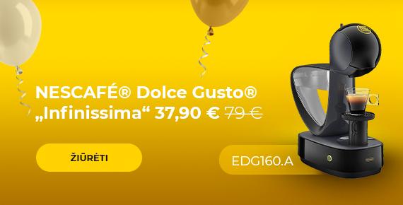 """Kavos aparatas NESCAFÉ® Dolce Gusto® """"Infinissima EDG 160.A"""" tik 37,90 €"""