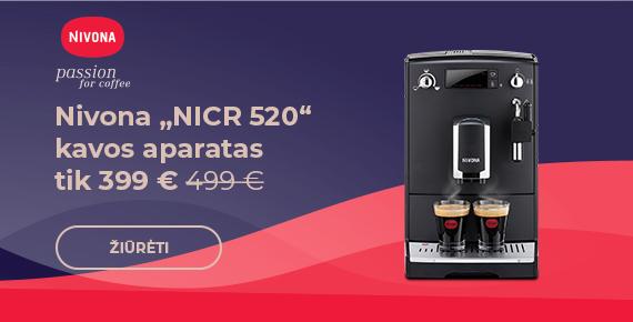 """Nivona """"NICR 520"""" kavos aparatas tik 399 € 499 €"""