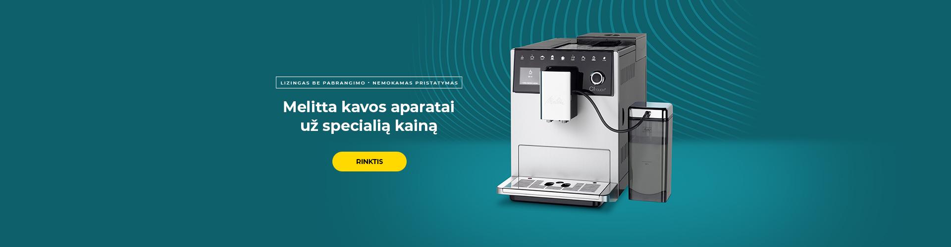 Melitta kavos aparatai už specialią kainą