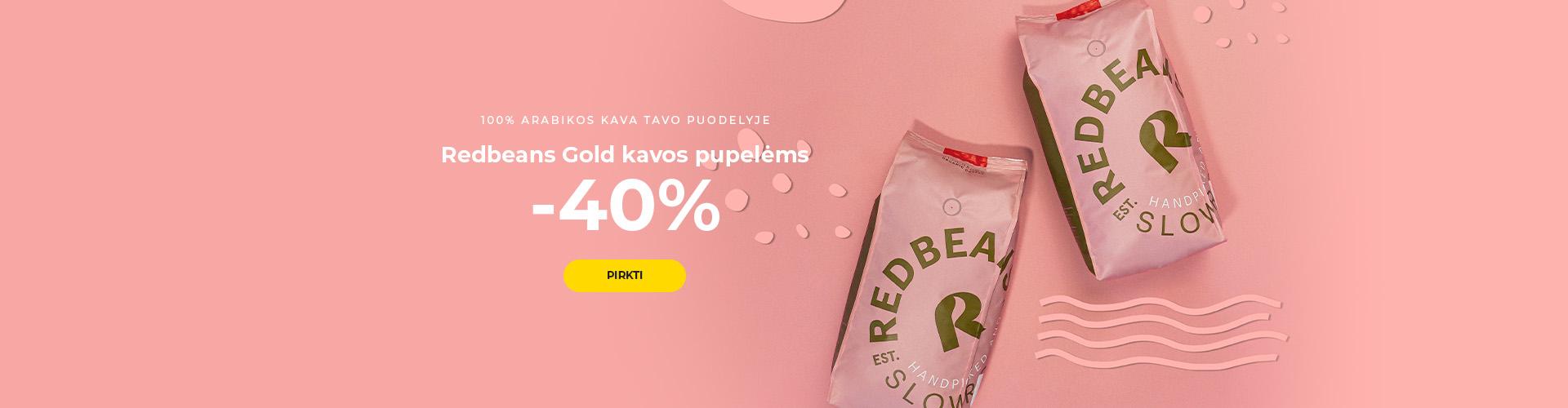 Redbeans Gold kavos pupelėms -40%