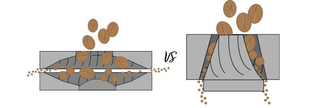 Kavamalės su plokščiosiomis vs. kūginėmis girnomis