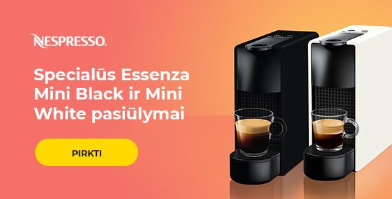Specialūs Nespresso Essenza Mini Black ir White pasiūlymai